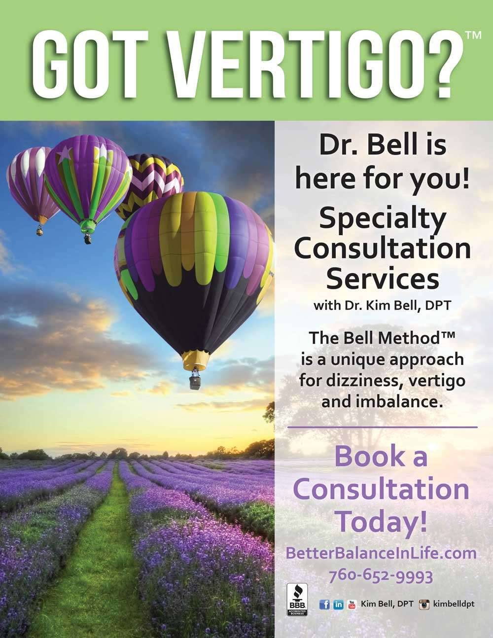 Book Appointment With Kim Bell, DPT - San Diego Vertigo Expert